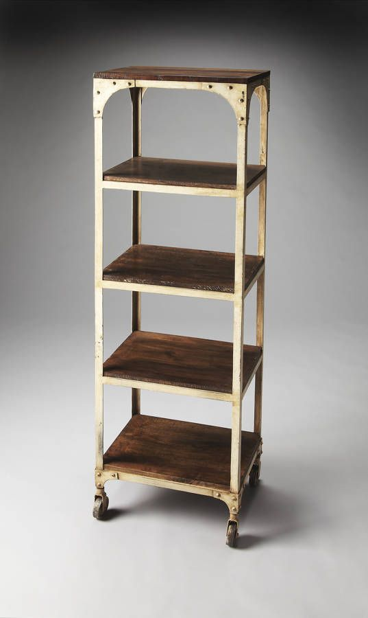 Industrial Chic Blaine Transitional Iron Solid Wood Etagere