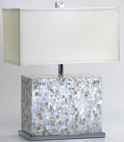Capiz Shell Block Table Lamp