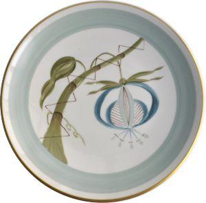 ASSIETTE JARDINS D'UDAÏPUR PETITE FLEUR (Assiettes, -Opaline (50)/ Bleu ardoise (26)/ Snake green (18) PF2) | Marie daage