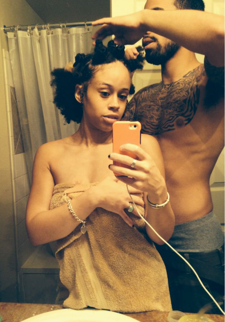 "unflookather: ""sailorspromise: "" If your man doesn't help you detangle your hair and with your Bantu Knots…he ain't shit. "" Love Natural November """