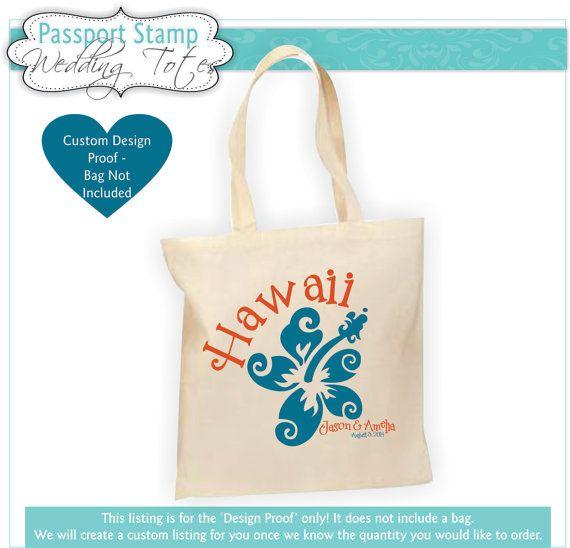 Hawaii Destination Wedding Bag Hawaii Wedding Favors by Markeza, $10.00