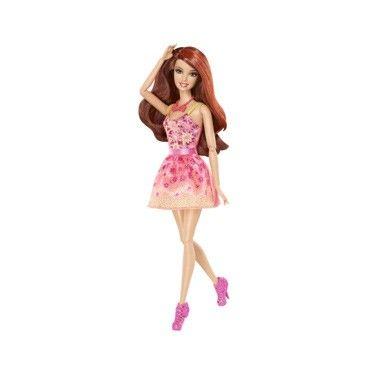 Barbie fashionistas pop bruin/krullend. Barbie laat haar unieke persoonlijkheid zien met spectaculaire mode en accessoires die rechtstreeks van de catwalk af komen.  #speelgoed #toys