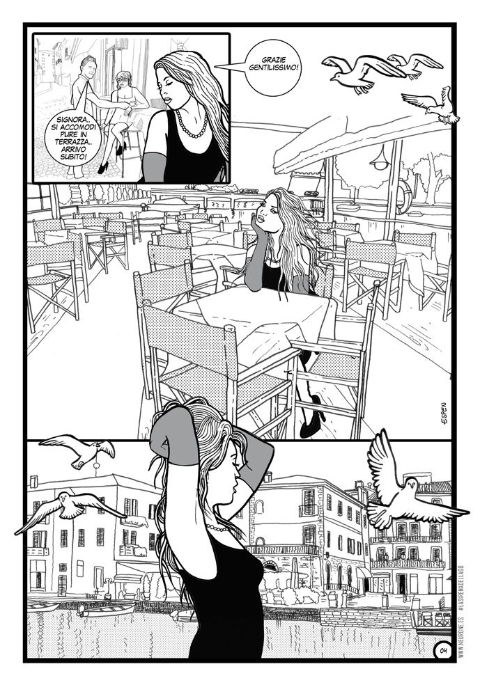 giorgio Espen illustratore veronese che ha voluto realizzare un racconto ambiatntato a #peschieradelgarda a #verona che vede come protagonista della storia la #modella #italiana #ariannaespengrimoldi di #milano  #fumetto presente sul sito www.neurone.es di #espen