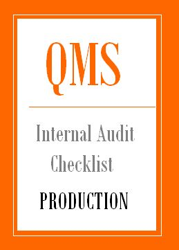 Iso 9001 internal audit checklist for Production department