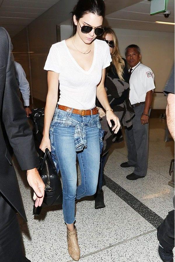 Look de aeroporto da modelo Kendall Jenner.