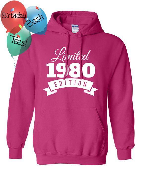 1980 Birthday Hoodie 36 Limited Edition by BirthdayBashTees