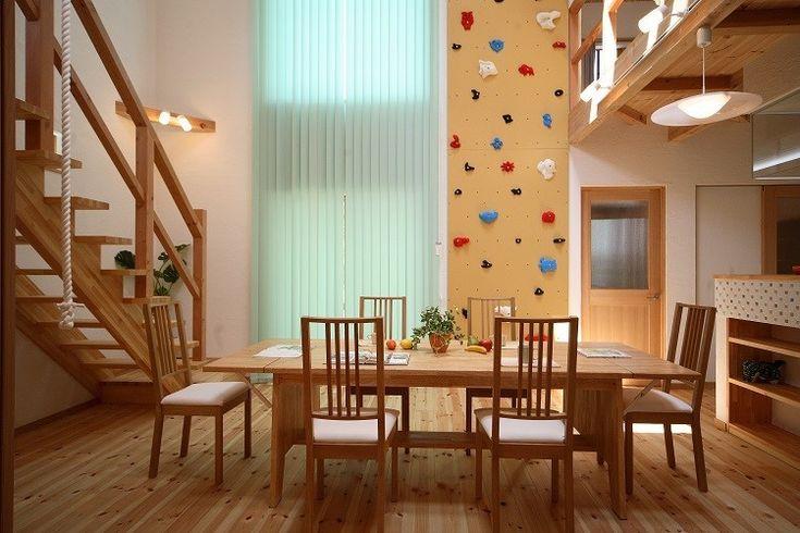 ~クライミング、ターザンロープ、子供がのびのび育つ住まい~ | アンハウス株式会社の建築事例 | SuMiKa