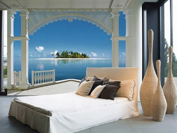 Romantic Lake Wall Murals Bedroom
