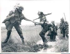 - 1969 US Infantry Marine Viet Nam War Original Nik Wheeler UPI Wire Press Photo