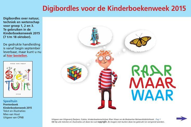 Uitgeverij Zwijsen Digibord lessen bij de boeken. Oa een gat in mijn emmer.