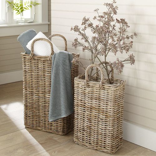 Tall Wicker Storage Basket #birchlane