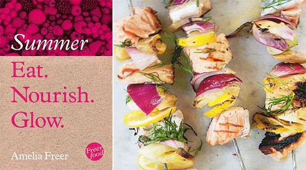 Amelia Freer - Healthy and tasty salmon and fennel kebabs