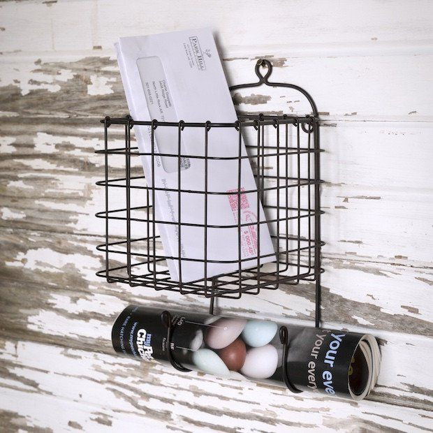 Hanging Wire Basket | Wire Storage Basket | Keys Mail Basket