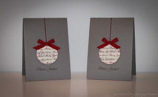 Kortteja ja vähän muuta: Joulupallokortti