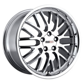 """Corvette Wheels - Manta Chrome - It has always been hard fitting aftermarket wheels on Corvettes. But Cray Corvette wheels change all this. Cray Corvette wheels even accept the original Corvette center cap. Plus, all Cray Corvette wheels take the original Corvette air sensor and are Corvette """"hub-centric,"""" ensuring you and your 'Vette the smoothest ride. Featuring jaw dropping styles like the MANTA - CHROME, Cray Wheels offer the world's widest range of one-piece staggered Corvette wheels."""