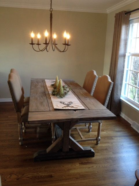 1000 ideas about Farmhouse Dining Tables on Pinterest