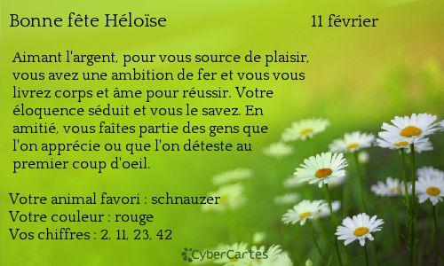 Carte bonne fête Héloïse