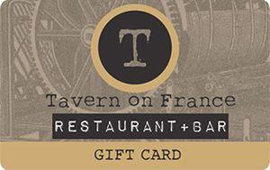 Tavern on france gift card -