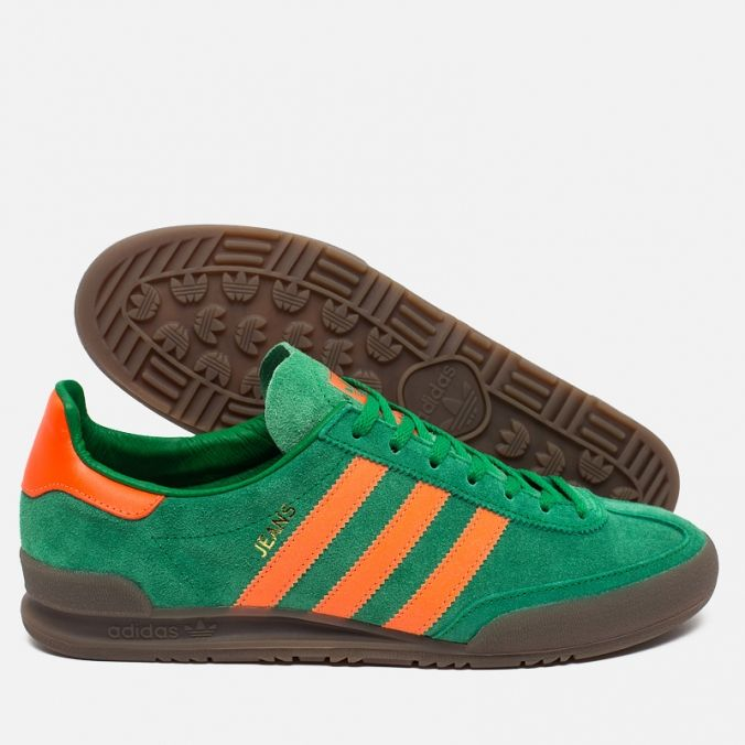 adidas Originals Jeans Trainers Green/Sorang/Gum. Article: S76996. Release: