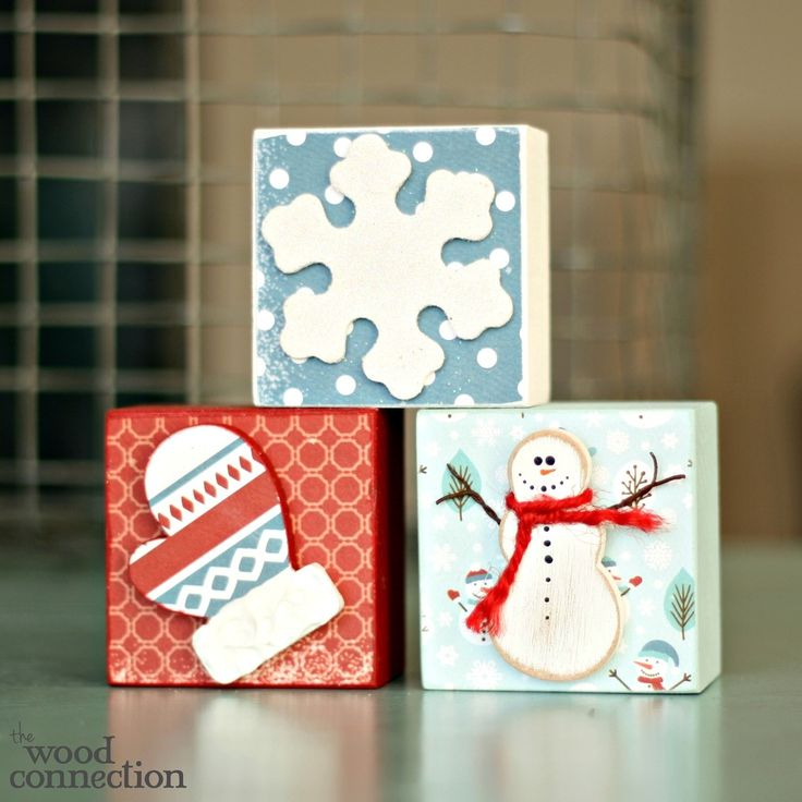 The Wood Connection - Winter Accessory Block Trio, $4.50 (http://thewoodconnection.com/winter-accessory-block-trio/)
