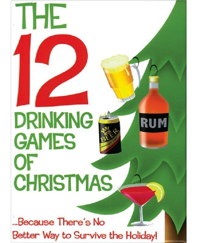 The 12 Drinking Games of Christmas Adult Holiday Party Game Xmas New Year's Eve #KheperGames #Game