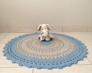 Lindo tapete de crochê nas cores azul bebê e caqui, um charme para quarto de bebê  . #tapetedecroche #tapetedebebe #tapeteazulbebe #azulbebe #quartodebebemenino #quartodebebe