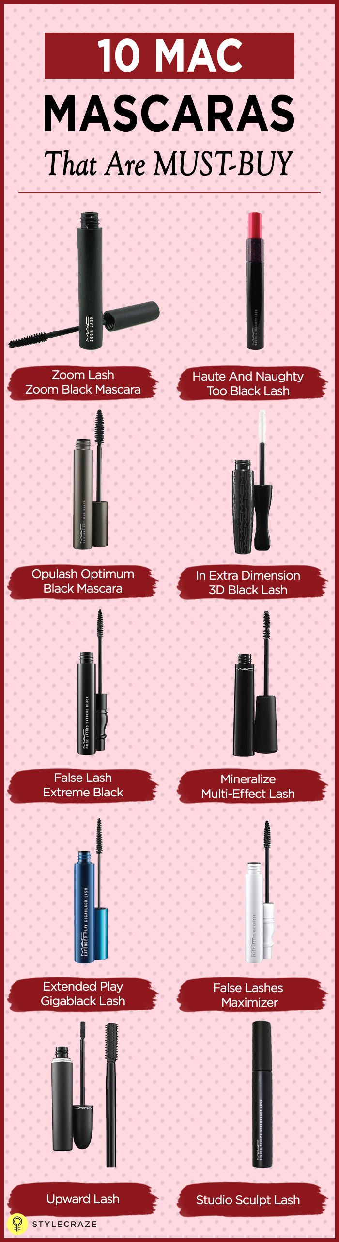 Everything about MAC oozes class. Be it the classy packaging or the quality of the products, MAC is synonymous with top-notch quality and mascaras are amongst the most sought-after products by MAC. They are something you should definitely try out, if you haven't already. Here are our top 10 picks of the best mascaras from the brand. #EyeMakeup