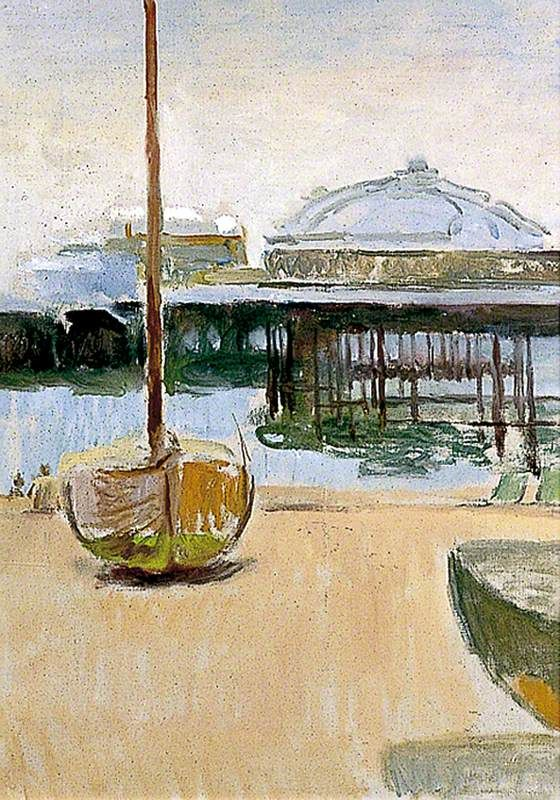 West Pier, Brighton, East Sussex, c1955, Vanessa Bell, Charleston, East Sussex, UK.