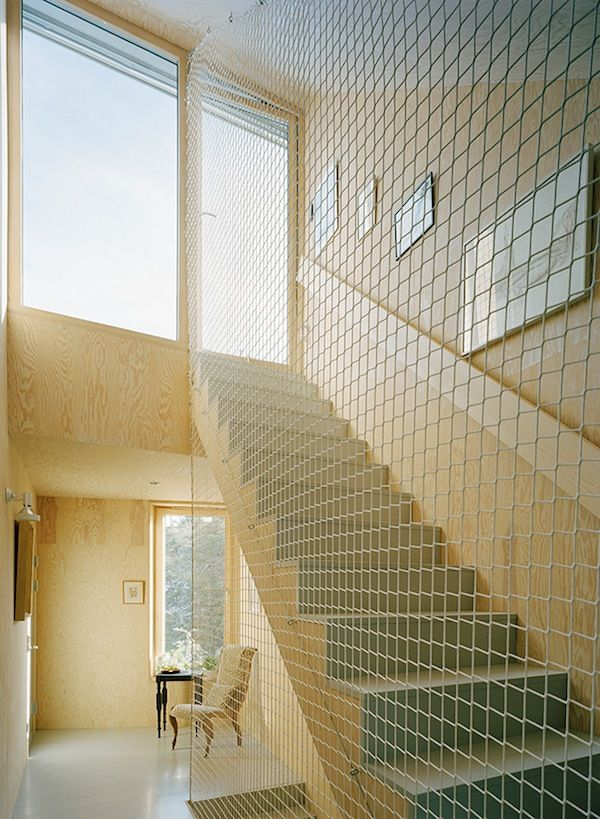 Love The Safety / Cargo Net Idea To Replace Traditional Stair Railing