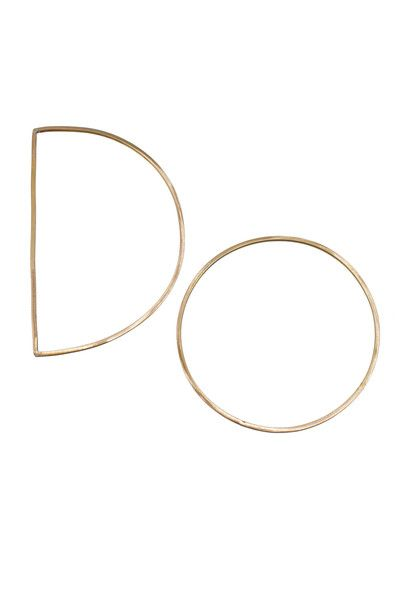 D + O Bangle Set from Moorea Seal  #style #jewelry #bangle #bracelet #gold #geometric #minimal