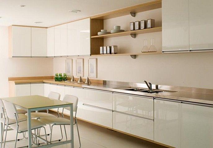 cozinhas móveis brancos e bancada de madeira - Pesquisa Google