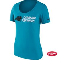 Carolina Panthers Women's Blue Lockup Nike Shirt