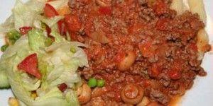 Nem kødsovs til ris eller pastaretter.