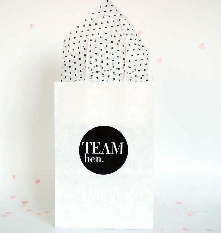 Monochrome Hen Party Gift Bag