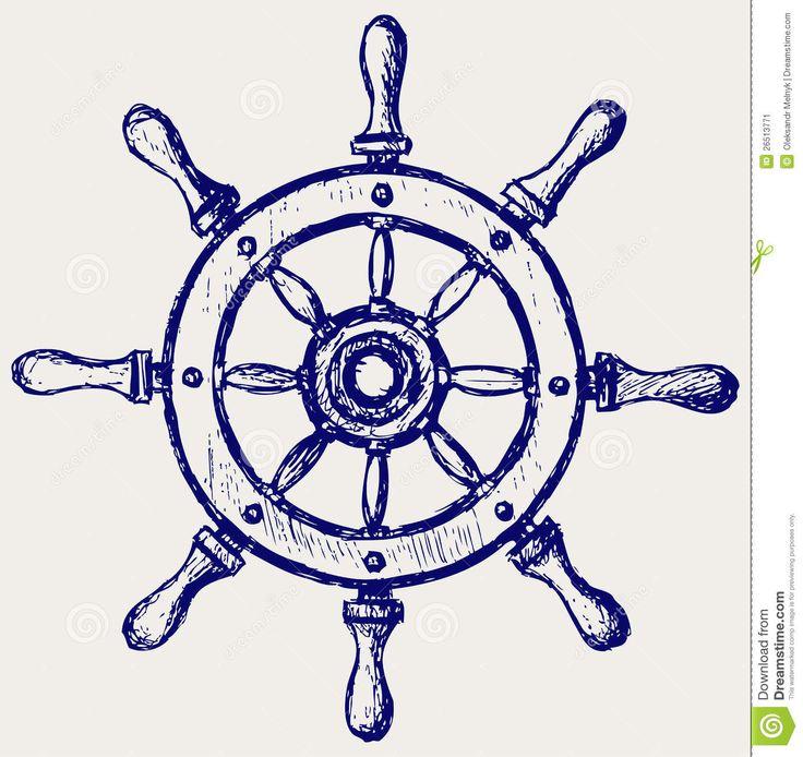 Wheel Marine Wooden Stock Image - Image: 26513771