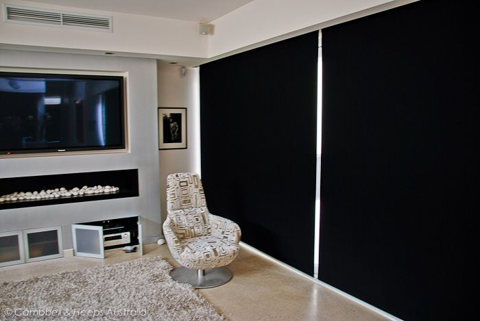 Blockout Roller blinds - double blinds on a single motor!