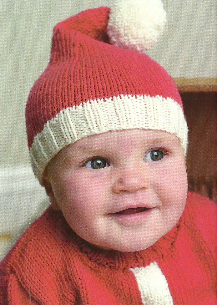 Free Baby Hat Knitting Patterns Pinterest Santa Hat Free