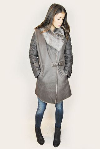 JESSIMARA BROWN SHEEPSKIN GILET & PUFFER COAT