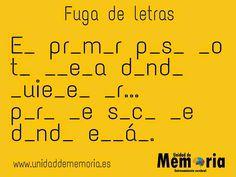 Entrenamiento Cerebral, Unidad de Memoria, Estimulación Cognitiva, Taller de memoria, Alzheimer, Daño Cerebral, Ictus, Memoria en Alcorcón