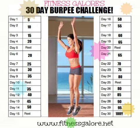 30 DAY BURPEE CHALLENGE (doing this in half with no push-up)