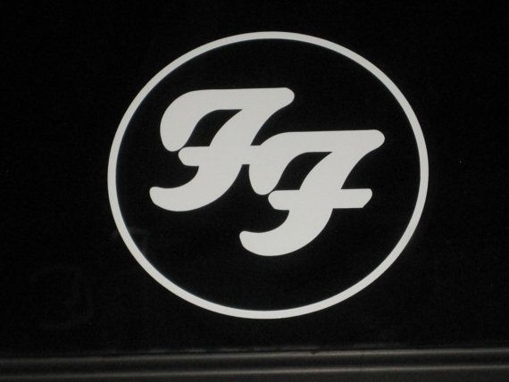 Foo fighters ff music band rock logo vinyl by makeminepersonal 4 00 car decalsvinyl