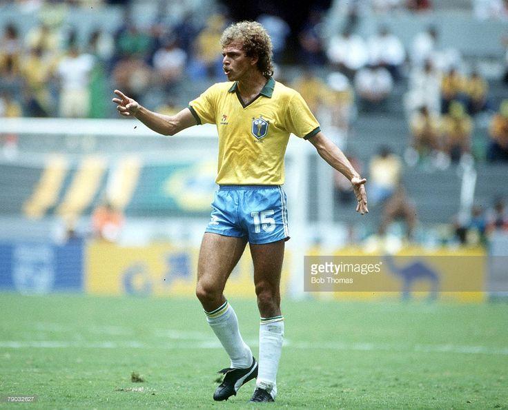 World Cup Finals, Second Phase, Guadalajara, Mexico, 16th June, 1986, Brazil 4 v Poland 0, Brazil's Alemao