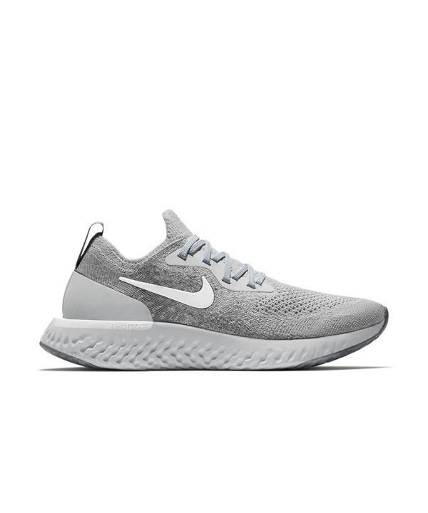 Nike Epic React Flyknit Wolf Grey Women S Running Shoe Hibbett City Gear Womens Running Shoes Running Shoes Nike