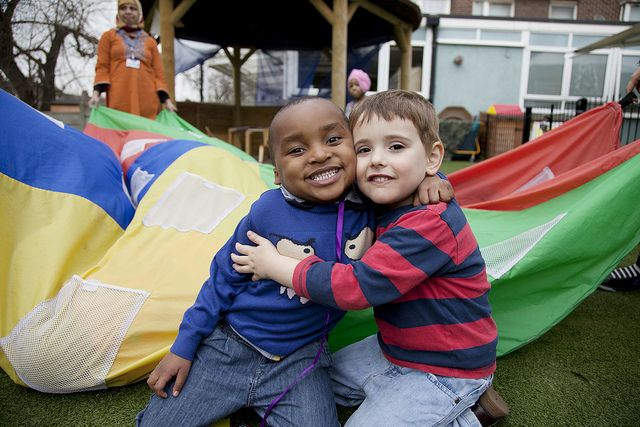 Friendship is a precious gift at Eastbury nursery | Of all the great things a good nursery can do for children, one of the things we love most of all is when we see children making new friends - as they say, priceless! http://www.leyf.org.uk/find-a-nursery/barking-and-dagenham/eastbury-childrens-centre-nursery #earlyyears #childcare #leyf #children #play #learn #preschool #education #london