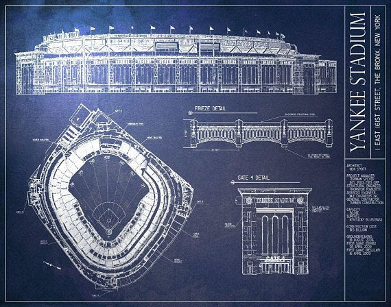 314 best baseball images on pinterest baseball park brooklyn and yankee stadium blueprint vintage baseball poster malvernweather Choice Image