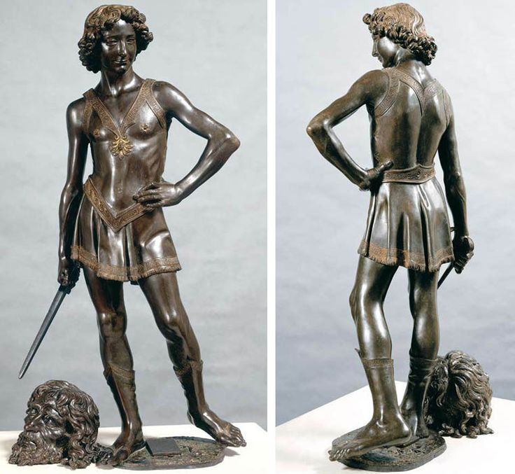 an analysis of the sculptures of david by donatello and andrea del verrocchio Discover artworks, explore venues and meet artists art uk is the online home for every public collection in the uk featuring over 200,000 oil paintings by some.