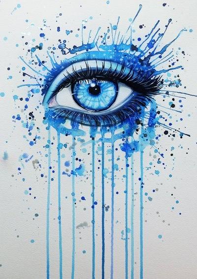 Blue Eye - Watercolor
