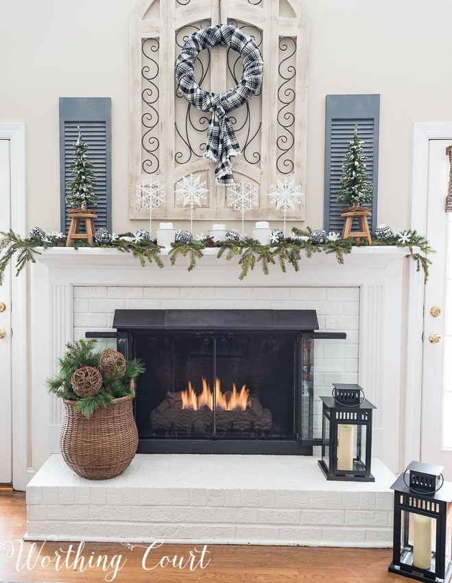 My After Christmas Snowy Winter Fireplace 52