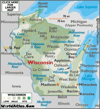 Best USA State Road Maps Images On Pinterest Road Maps - Wisconsin road map usa
