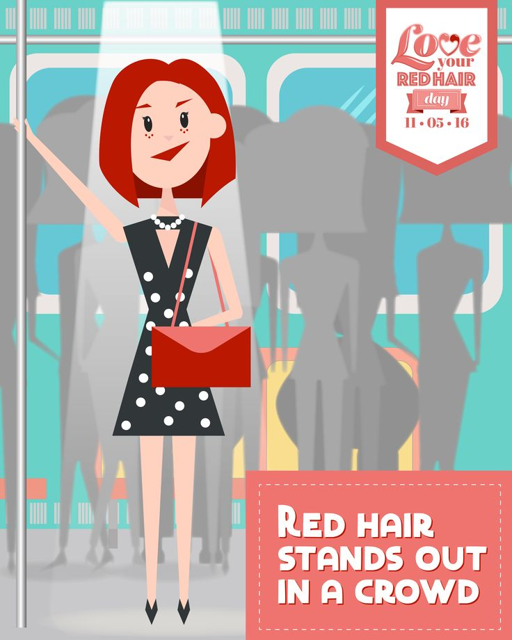 Red hair stands out in a crowd. #LoveYourRedHairDay